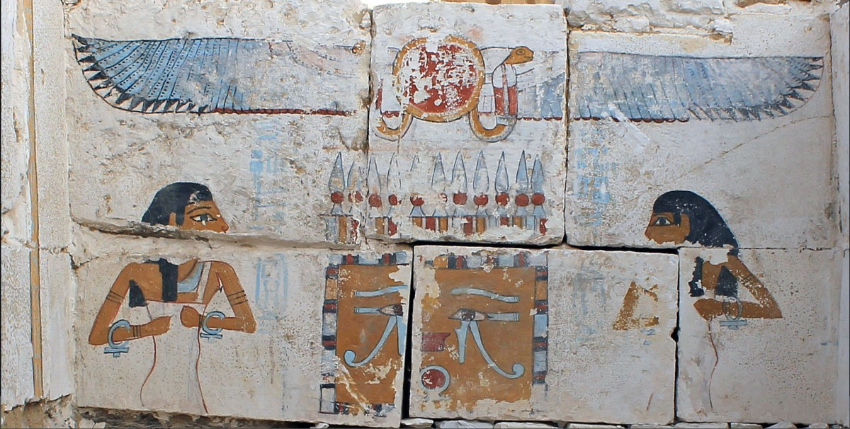 """""""Coming down from the top of that chamber, we could see that there were these beautiful images painted on the walls—scenes and texts,"""" said Josef Wegner after the discovery in Abydos."""
