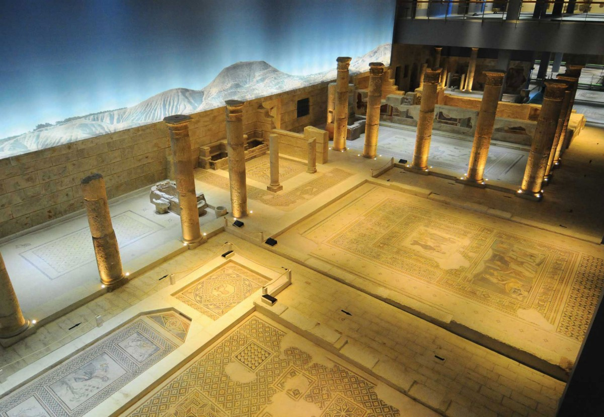 View of the Gaziantep Zeugma Mosaic Museum.