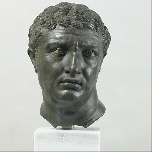 Portrait of a Man, about 100 B.C. Bronze, white paste, and dark stone, 32.5 x 22 x 22 cm. Courtesy of the National Archaeological Museum, Athens. Photo: Marie Mauzy/Art Resource, NY.