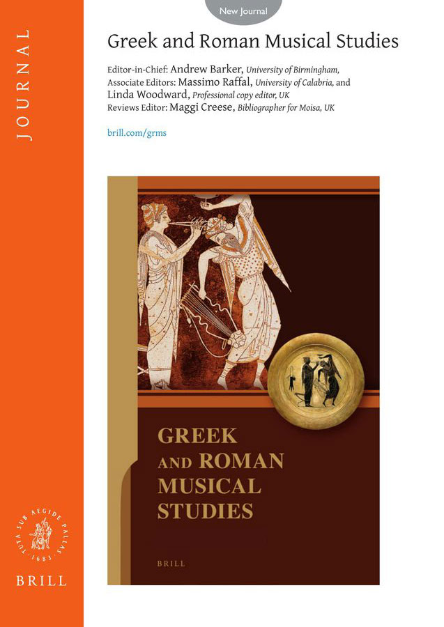 Flyer of the journal Greek and Roman Musical Studies.