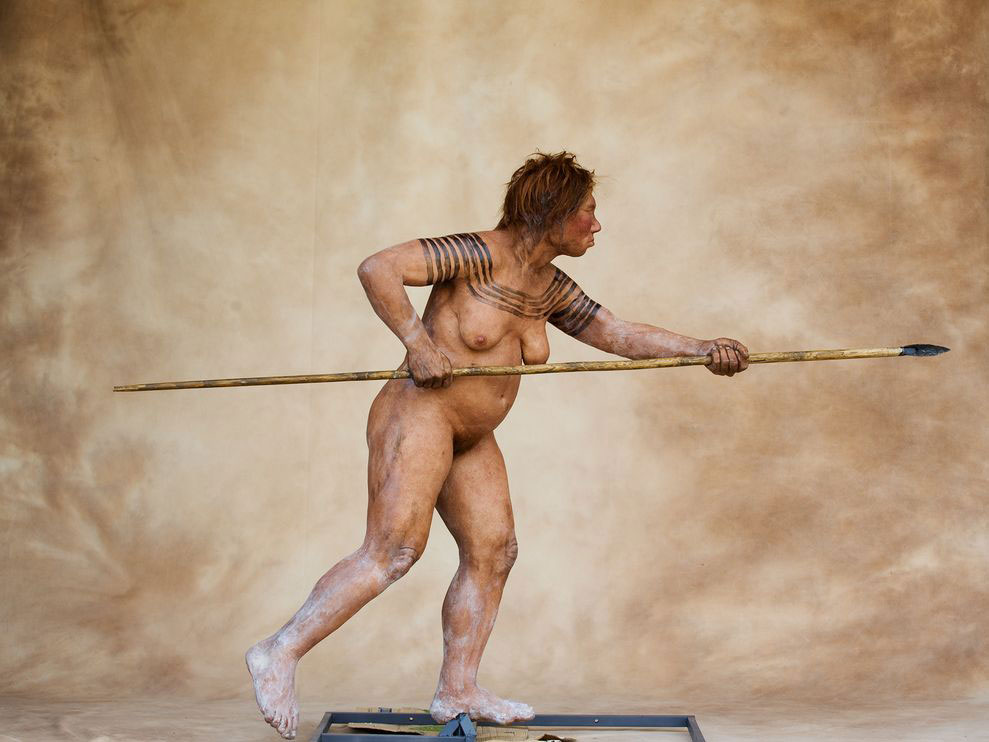 Representation of Neanderthal. Photo Credit: National Geographic.
