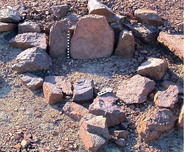 Finds a the Negev Desert cult sites. Photo Credit: Uzi Avner.