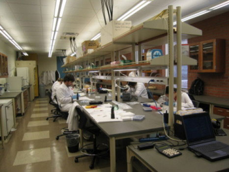 The Arizona State University's Archaeological Chemistry Laboratory where the isotopic analysis of hair samples took place. Photo Credit: Arizona State University.