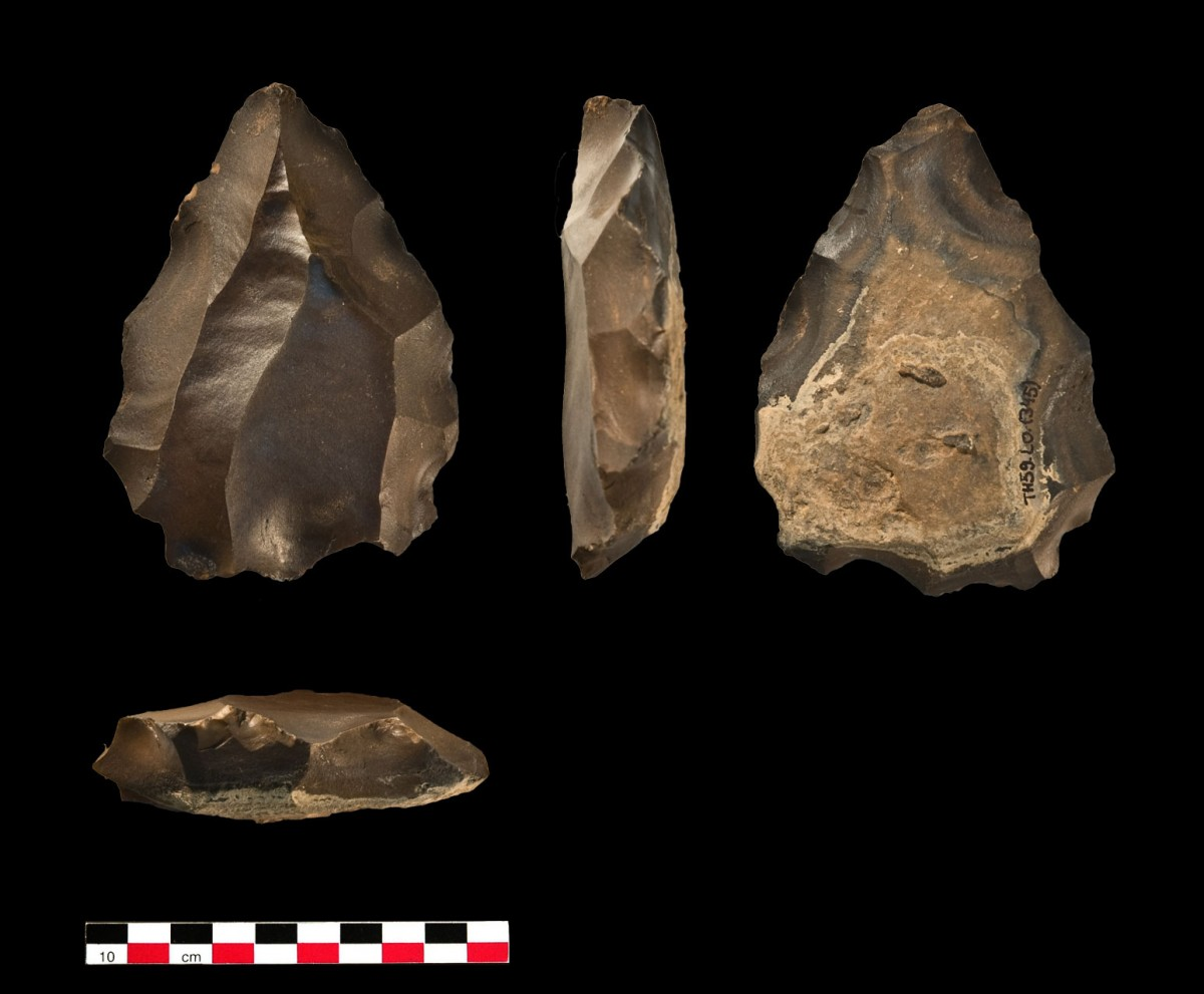 Nubian Type 1 core from Oman, the first time this particular stone tool technology has been found outside of Africa. Photo Credit: PLoS ONE 6(11)
