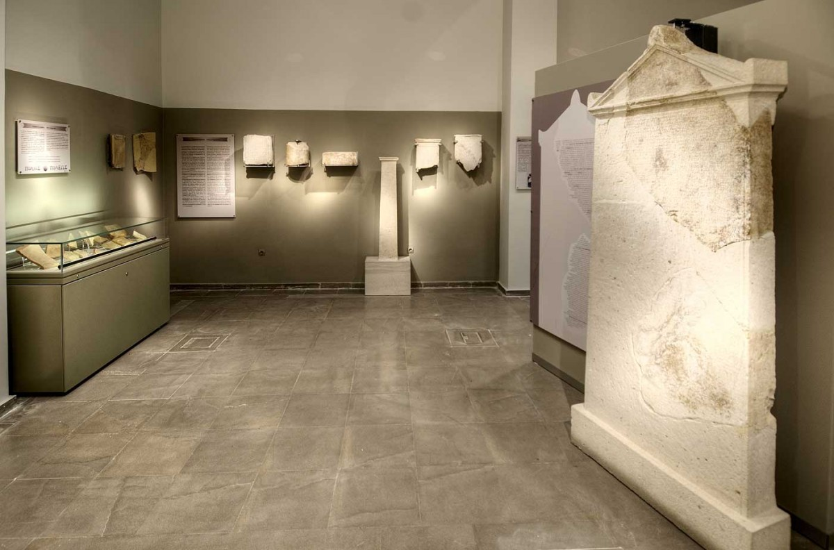 The stele is exhibited in room A of the Archaeological Museum of Arta. Credit: Archaeological Museum of Arta.