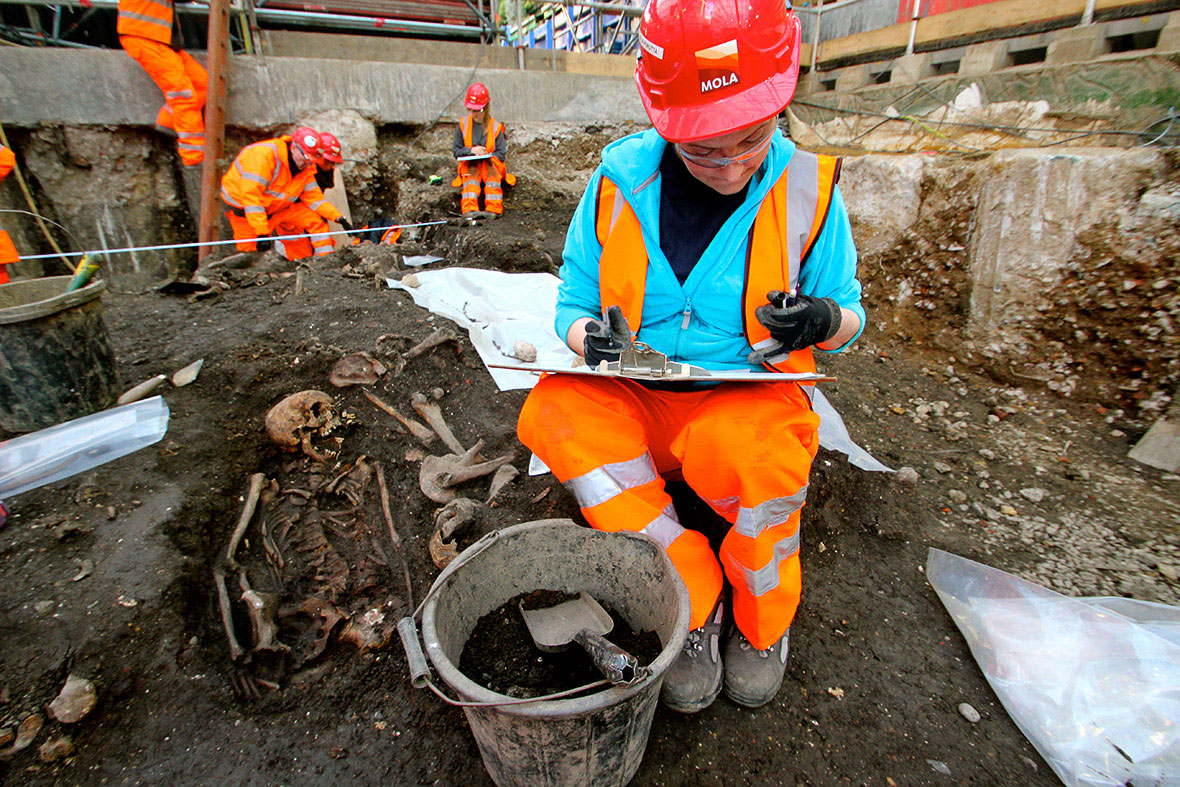 Sixty archaeologists are working at the site in shifts. Photo Credit: Tom Lawson / IB TImes.