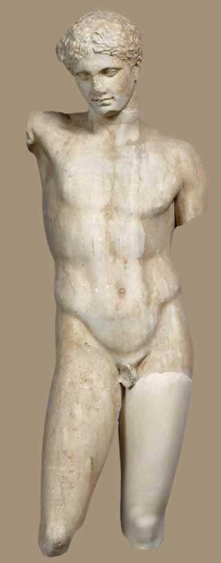 Marble statue of an athlete from Eleusis. 2nd c. BC. National Archaeological Museum, Athens.