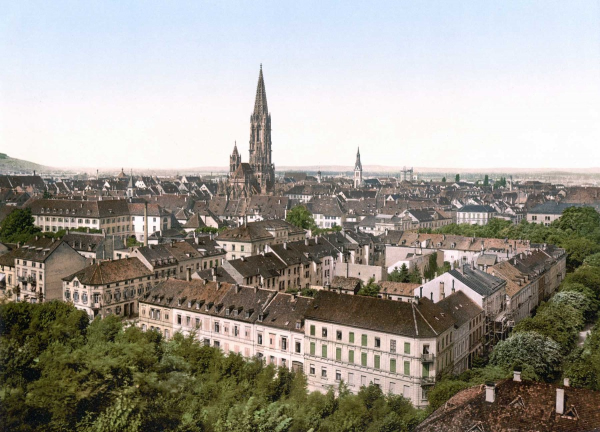 Freiburg around 1900.