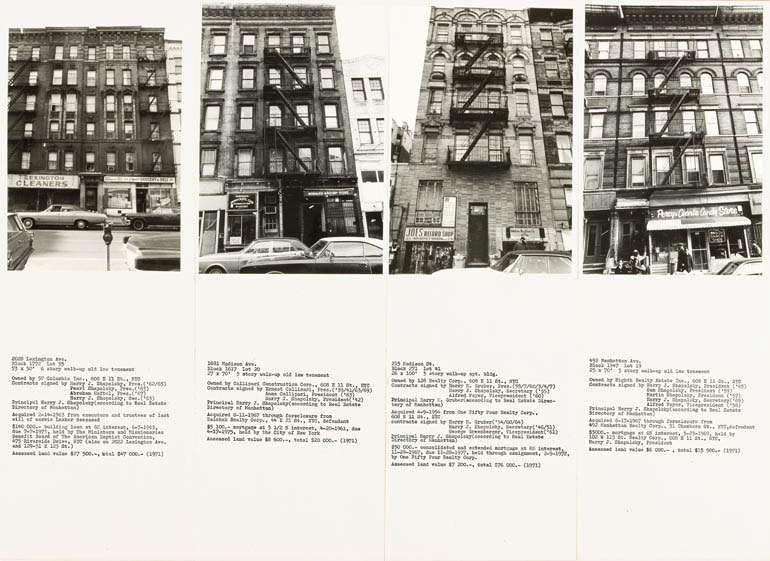 Fig. 6. Hans Haacke, Shapolsky et al. Manhattan Real Estate Holdings, a Real-Time Social System, as of May 1st, 1971 (detail), 1971. © Hans Haacke.