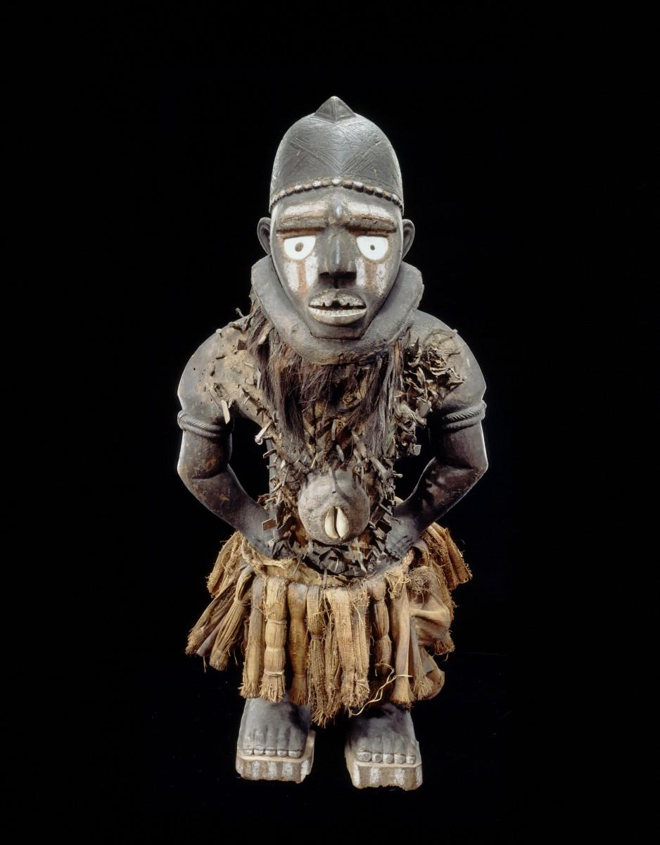 Yombe peoples, Mayombe, Lower Congo, DRC, Anthropomorphic power figure, nkisi nkondi,19th century, collection RMCA Tervuren, EO.0.0.7777. Photo R. Asselberghs, RMCA Tervuren ©