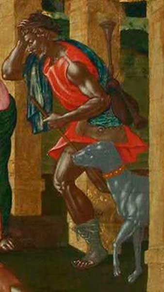 "Fig. 2. Detail of the work ""Adoration of the Shepherds"" by St. Tzankarola, 17th century, National Gallery of Greece."