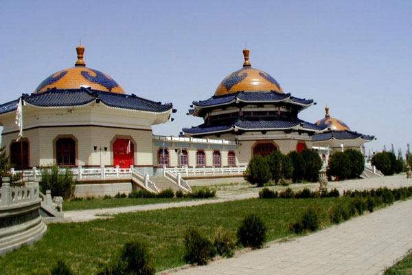 Mausoleum of Genghis Khan in Ordos.