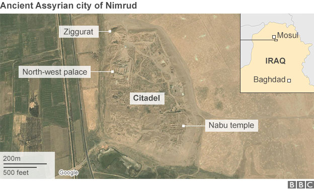 The Nimrud archaeological site.