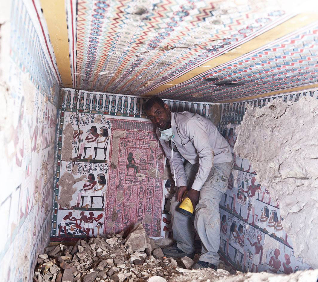 The tomb was discovered by members of the American Research Center in Egypt. Photo Credit: Egypt Antiquities Ministry.