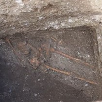 Ancient skeleton under Odessos wall