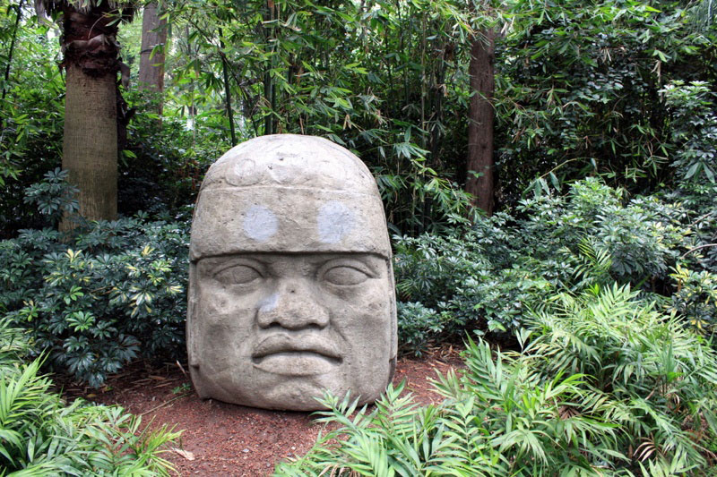 The Olmec were an early civilization in Mesoamerica, thay built a 112-foot-tall pyramid, developed a writing system (which is undeciphered) and built giant stone heads. Photo Credit: Zbiq / Shutterstock.com
