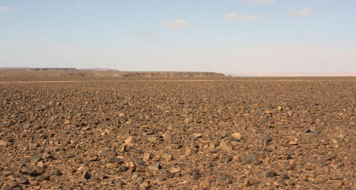 The view across the Messak landscape. Photo Credit: University of Cambridge.