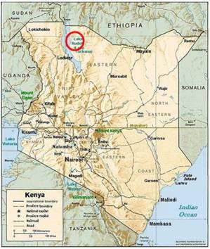Location of the Koobi Fora site in Kenya.