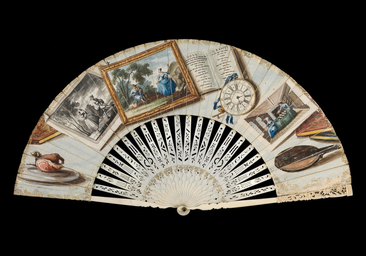 Unidentified English maker, Trompe l'oeil folding fan, 1757 © Fitzwilliam Museum, Cambridge.