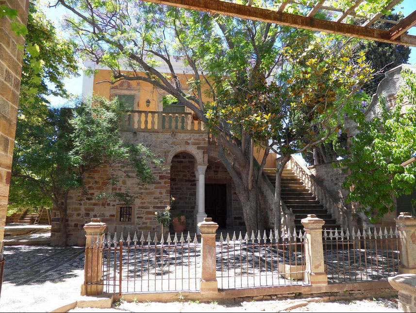 The main house of the Antouaniko estate in Chios, after its restoration. Photo: Emmanouil Vournous