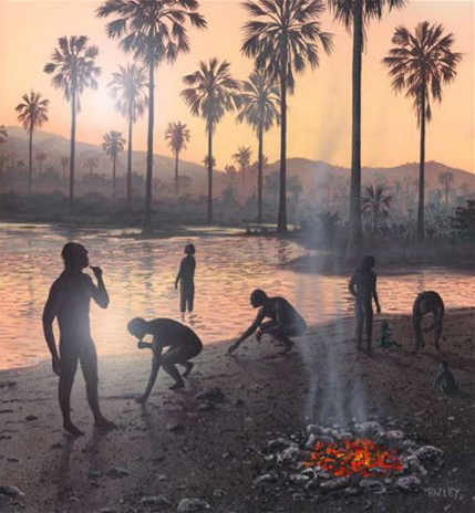 The Ileret footprints show that the ancient humans were walking on a lakeside buffered by grasslands.