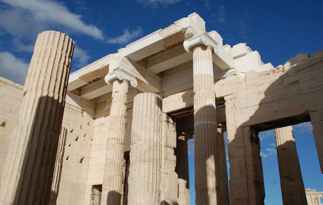 The Propylaea of the Athenian Acropolis.