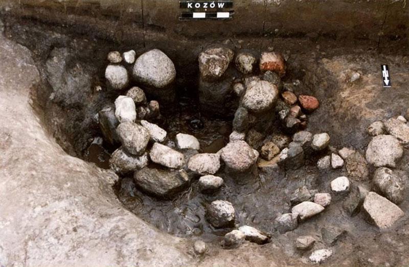 Ceremonial spring discovered during the excavations. Image: Z. Kobyliński.