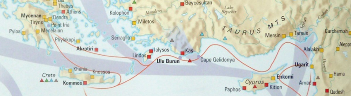N. Papadimitriou will present a comparative approach to Αegean and Cypriot trade (Image from P. Bahn, The Atlas of World Archaeology, Oxford 2000, p. 80).