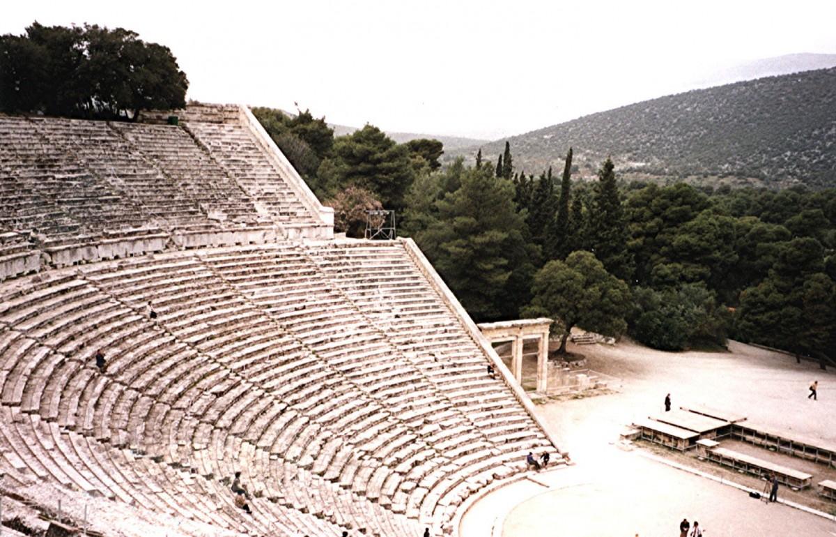 Greece, Epidaurus: Theatre, Public Domain, via Wikimedia Commons.