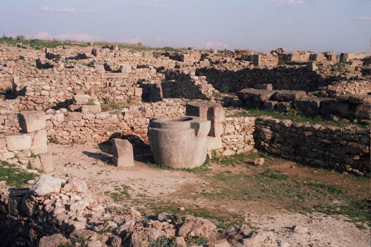 Excavated ruins at Ras Shamra, Ugarit.
