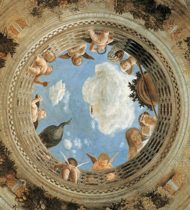 Cherubs at the ceiling fresco. Photo Credit: ANSA.