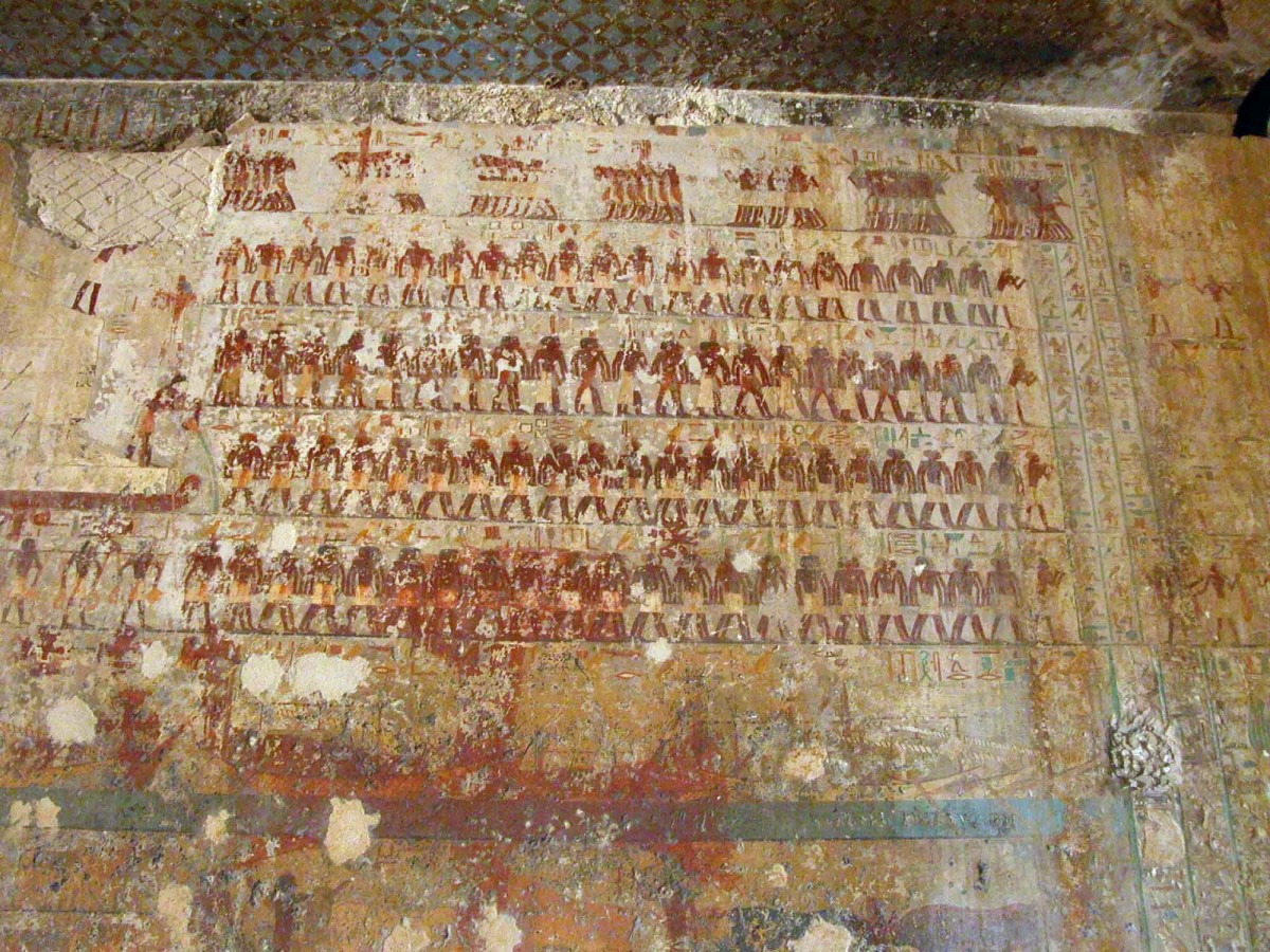 From the tomb of Djehutyhotep, Deir el-Bersha, Egypt. 12th Dynasty, about 1850 BC.