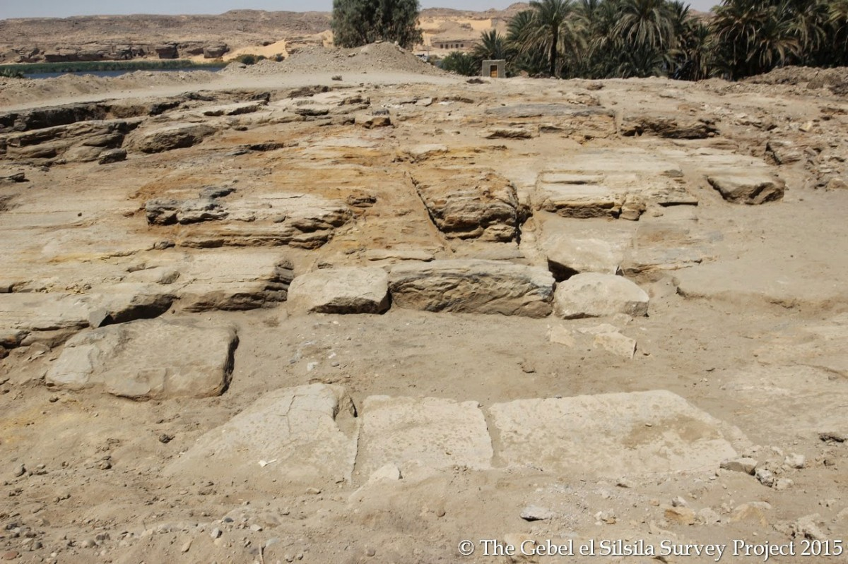 The foundation of the temple on site. Photo Credit: Gebel el Silsila Survey Project.