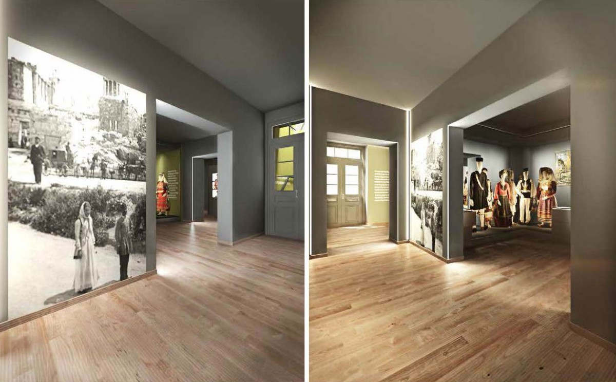 """Fig. 5. View of the exhibition section """" How do they enjoy themselves? / How do you enjoy yourselves?"""". 3D photorealistic depiction, AnRu Company."""