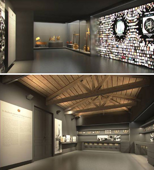 """Fig. 6. View of the exhibition section """"What work do they do/ What work do you do?"""". 3D photorealistic depiction, AnRu Company."""