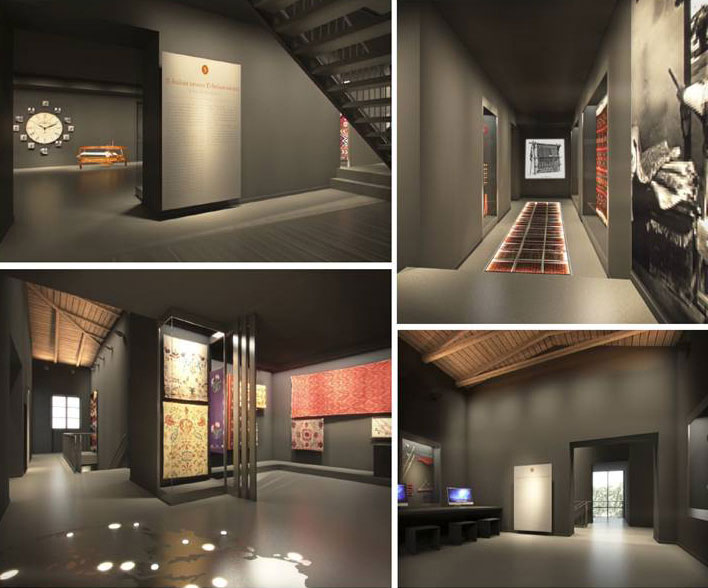 """Fig. 7. View of the exhibition section """"What work do they do/ What work do you do?"""". 3D photorealistic depiction, AnRu Company."""
