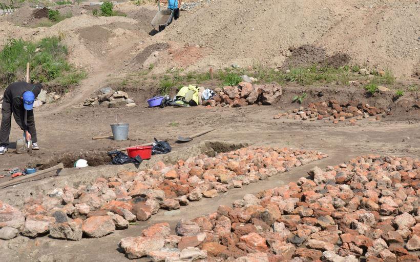 Picture of the excavation. Photo Credit: Radio Blagoevgrad.