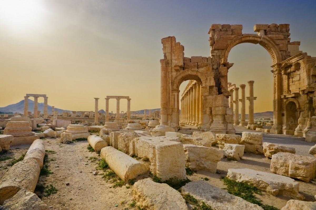 Hadrian's Gate, Palmyra. Photo Credit: The Guardian - Fernando Arias/Getty Images/Flickr RF