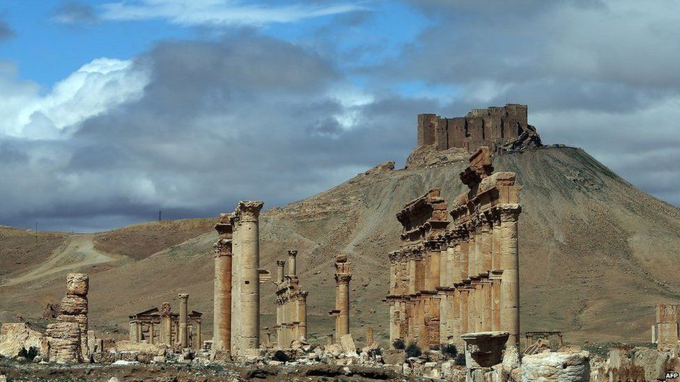 Significant monumental remains make Palmyra a world heritage site. Photo Credit: AFP.