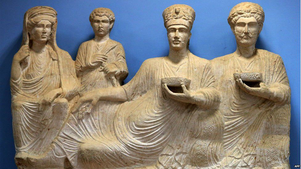 Some of the artifacts are kept at Palmyra Archaeological Museum. Photo Credit: AFP.