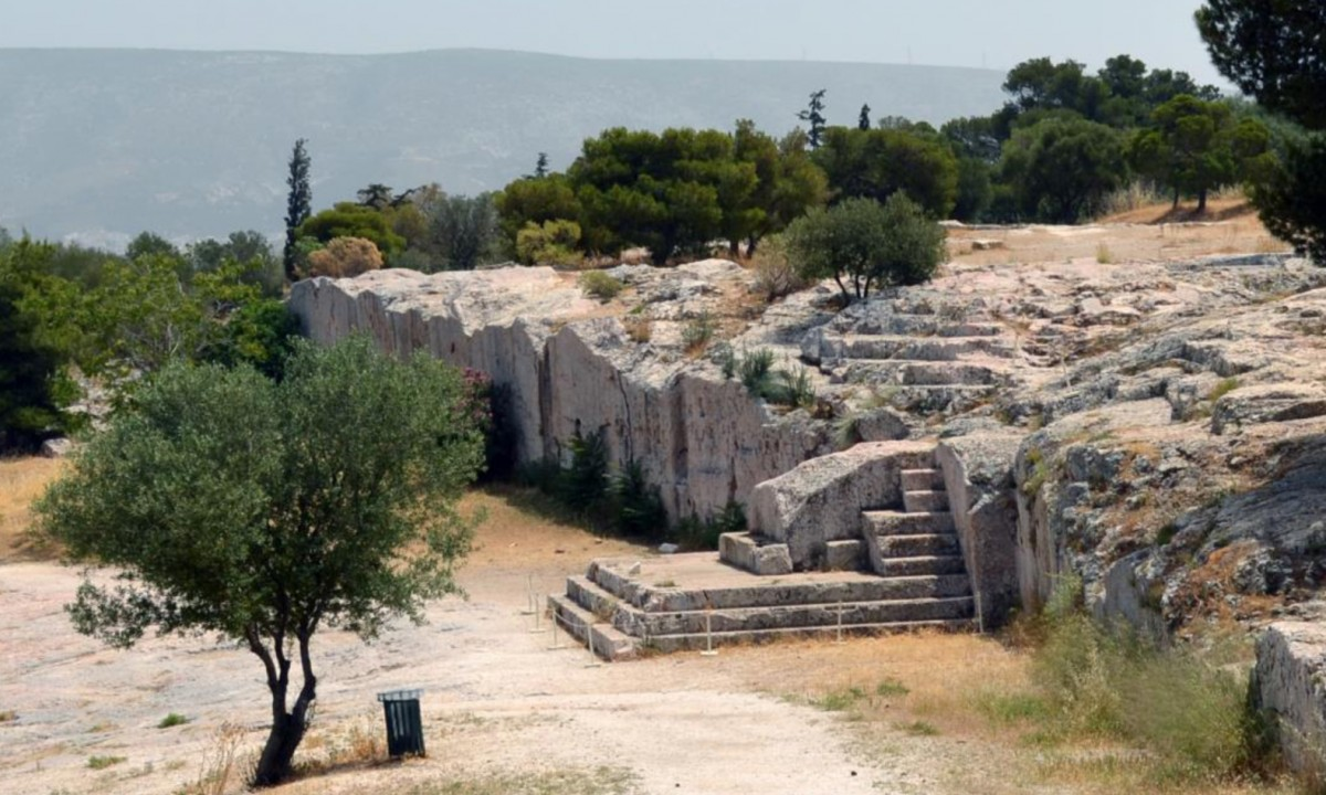 The Pnyx, where the Athenians gathered to host their popular assemblies.