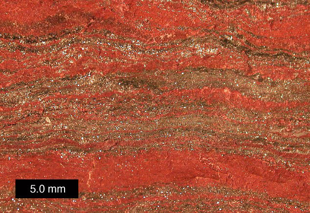The bones of Magdalenian 'Red Lady' uncovered in El Mirón cave were stained with a red ochre made from a haematite crystal. Source: Daily Mail