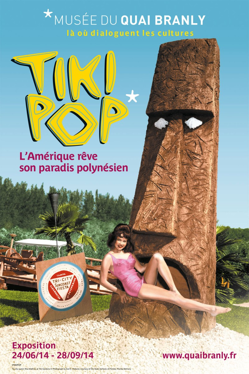 "Fig. 5. The exhibition ""TikiPop"" on the influence in America of Polynesian wood carvings. Quai Branly, Paris."
