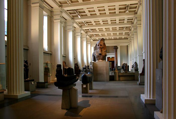 British Museum, Egyptian Sculpture Gallery, Room 4. Source: Wikimedia Commons