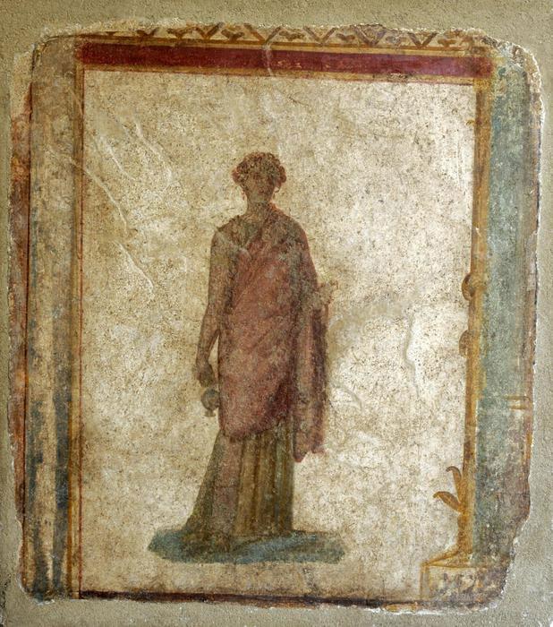 The 1st century BC frescoe from Pompeii. Photo Credit: ANSA.