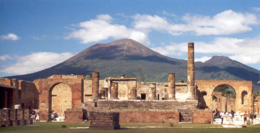 The archaeological site of Pompeii.