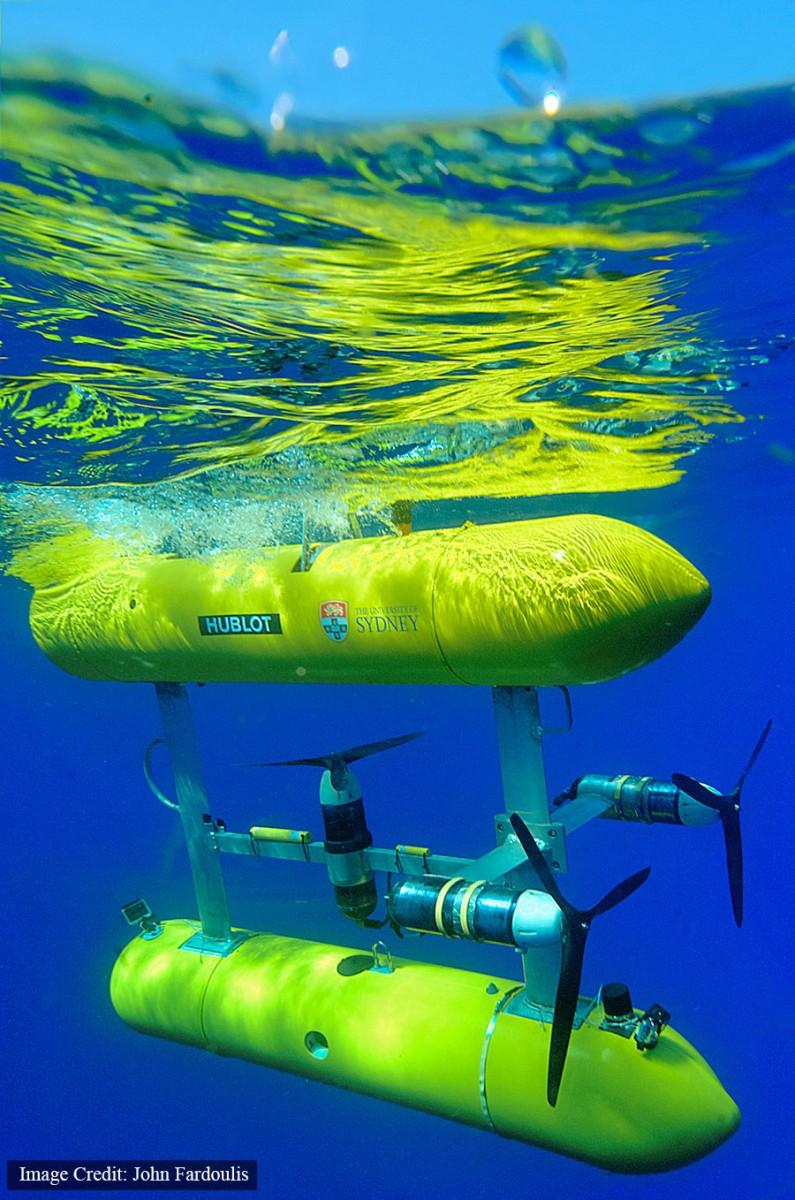 The Autonomous Underwater Vehicle, provided by the University of Sydney. Photo Credit: John Fardoulis.