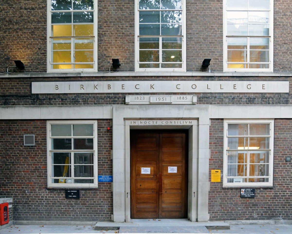 The former main entrance of Birkbeck College. The new one is on the other side of this building.