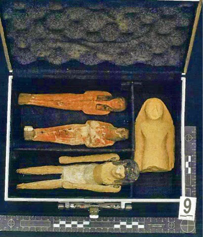 Some of the artefacts that were returned to Egypt on Monday's ceremony. Photo Credit: Egyptian Ministry of Antiquities.