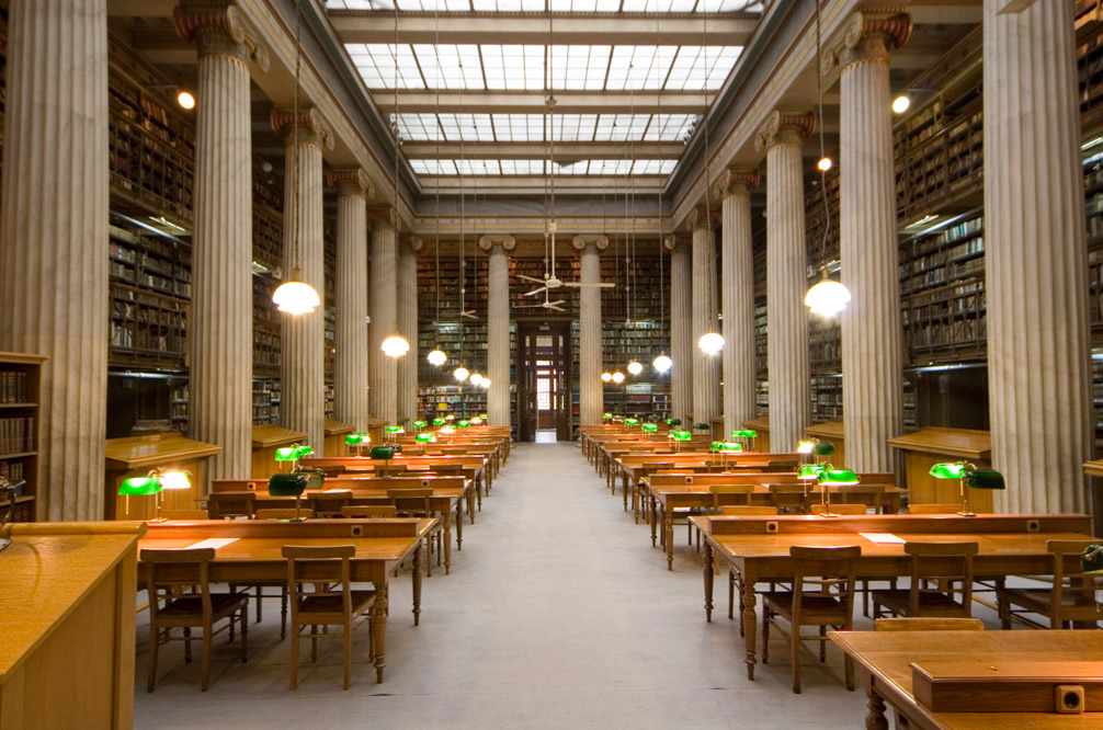 Reading Room of the National Library of Greece.